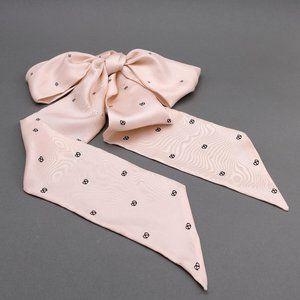 100% Silk Blush Pink Pretzel Print Scarf